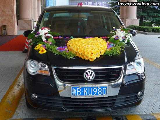 تزیین ماشین عروس شاسی بلند مشکی
