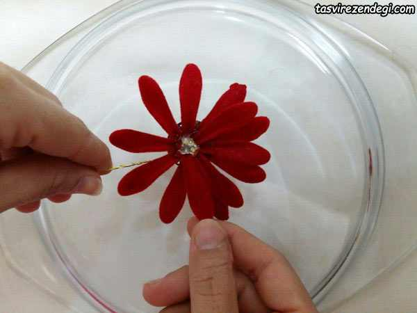 آموزش گل کریستالی , ساخت گل مارگریت