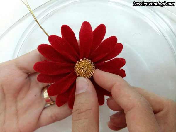 آموزش ساخت گل مارگریت کریستالی