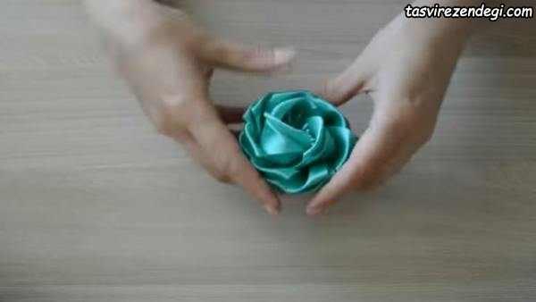 آموزش تزیین کش مو با گل روبانی