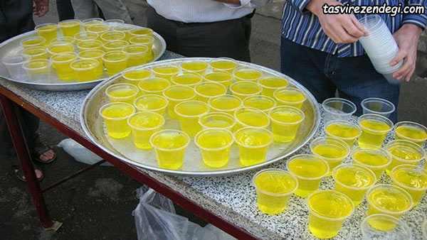 طرز تهیه نوشیدنی نذری , شربت زعفرانی