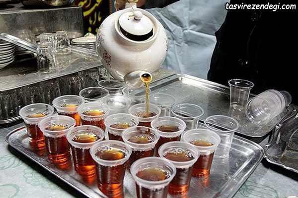 طرز تهیه نوشدنی نذری , چای