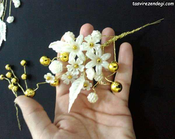 آموزش ساخت گل سینی کریستالی