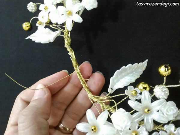 آموزش گل کریستالی , ساخت گل سینی
