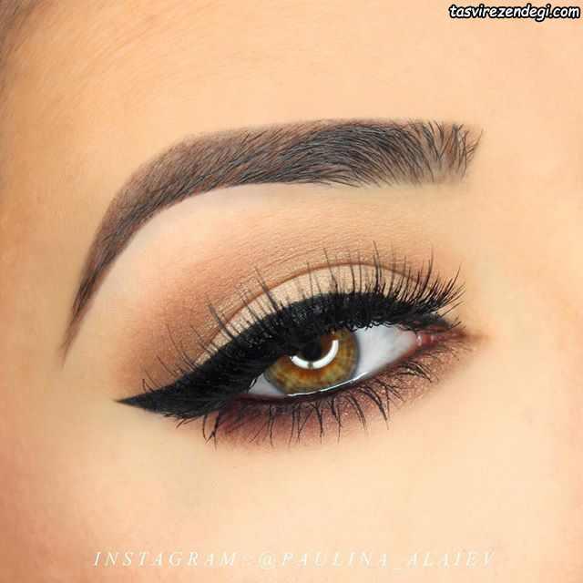 مدل آرایش چشم ملایم و جذاب