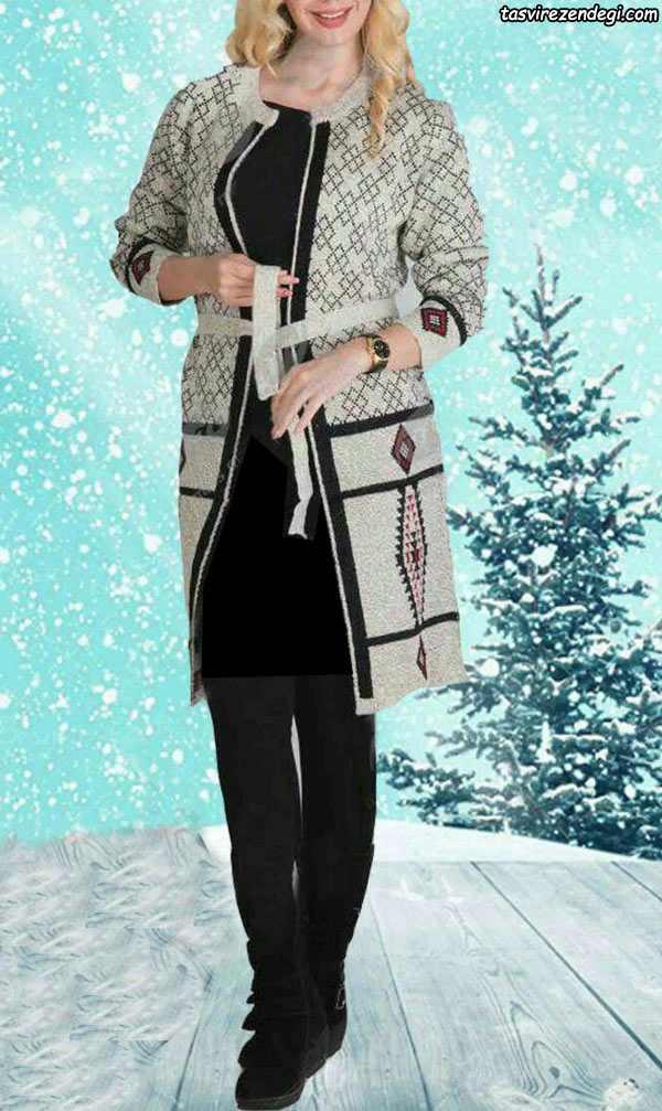 مدل مانتو بافت پاییزه و زمستانی