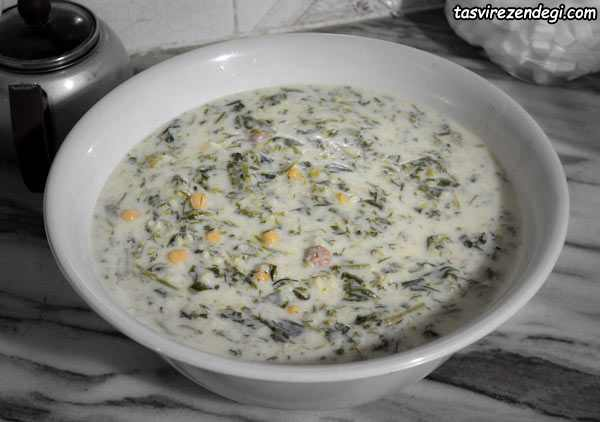 طرز تهیه آش برنج همدان