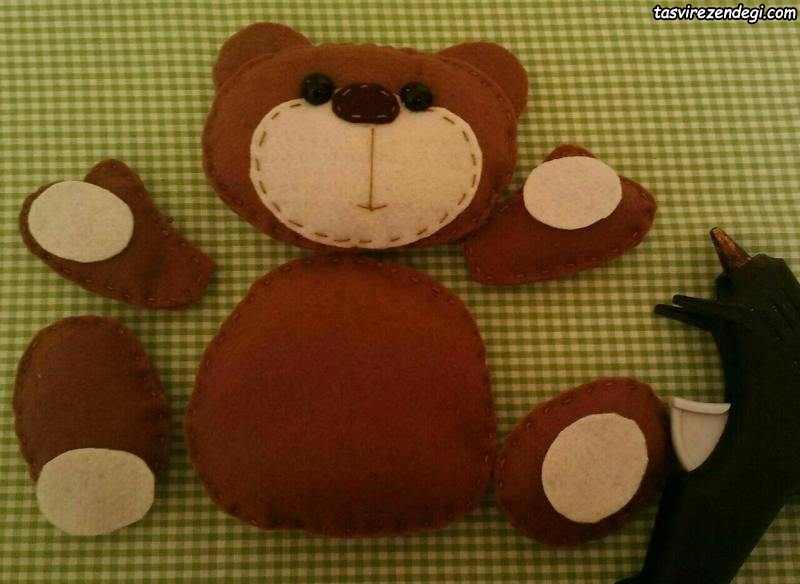 آموزش دوخت خرس نمدی