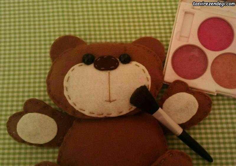 آموزش دوخت عروسک خرس نمدی