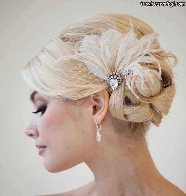 تزیین شینیون موی عروس