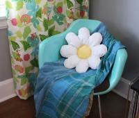 آموزش دوخت کوسن گل سفید