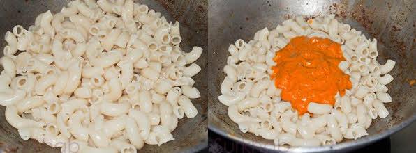 پاستا قرمز ایتالیایی با پنیر