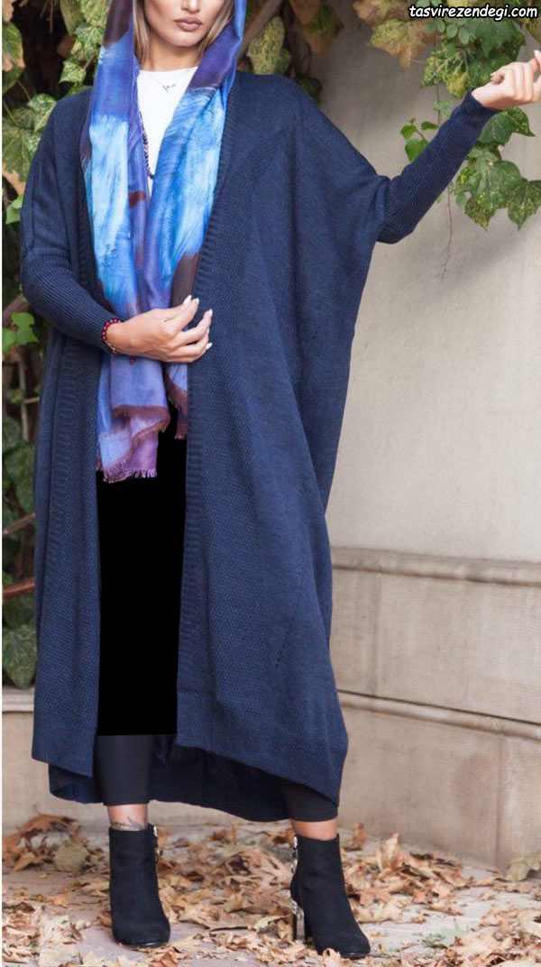 مدل مانتو بافت و پاییزه بلند