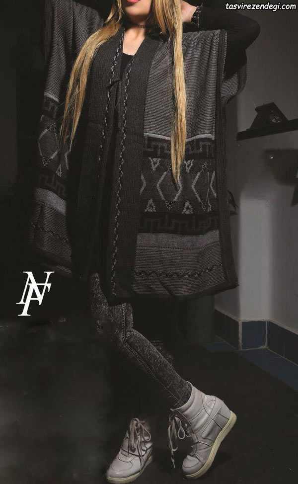 مدل مانتو بافت زمستانه دخترانه