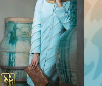 مدل مانتو شیک و مجلسی آبی رنگ