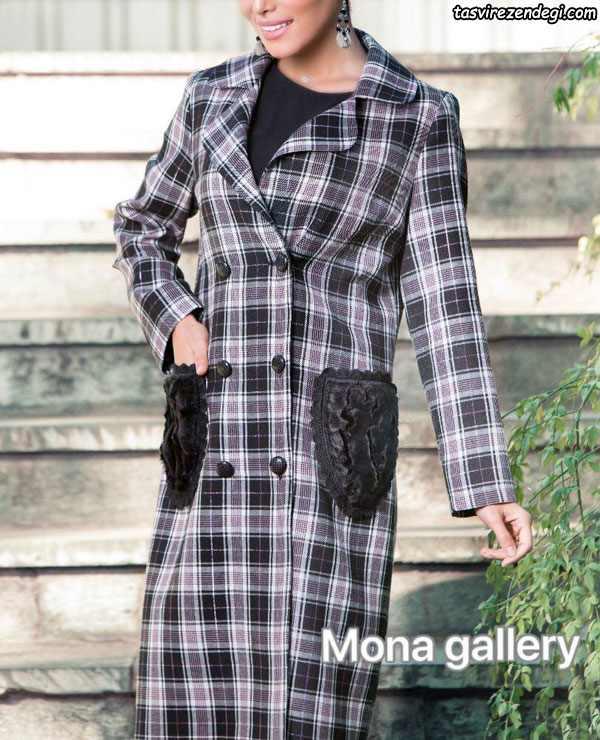 مدل مانتو زمستانه جدید یقه انگلیسی
