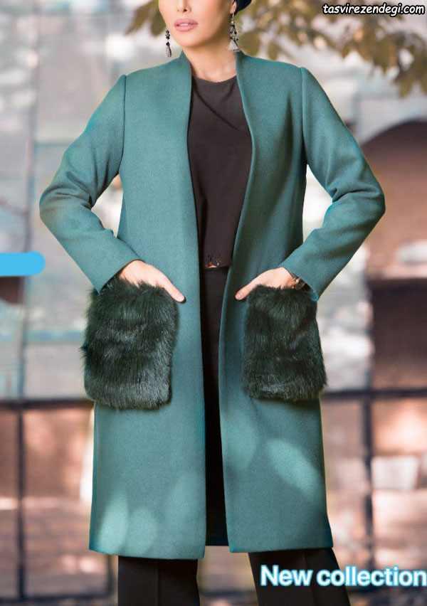 مدل مانتو زمستانه جدید جلوباز