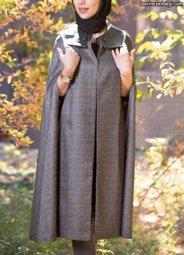 مدل مانتو زمستانه جدید شنلی