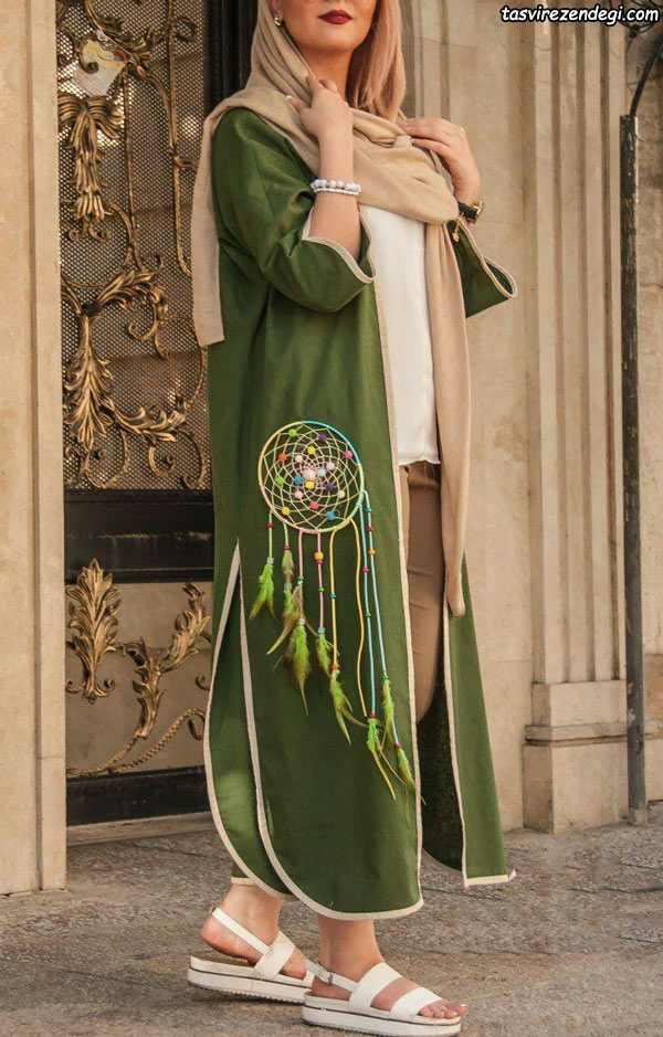 مدلهای زیبای مانتو مجلسی جلوباز