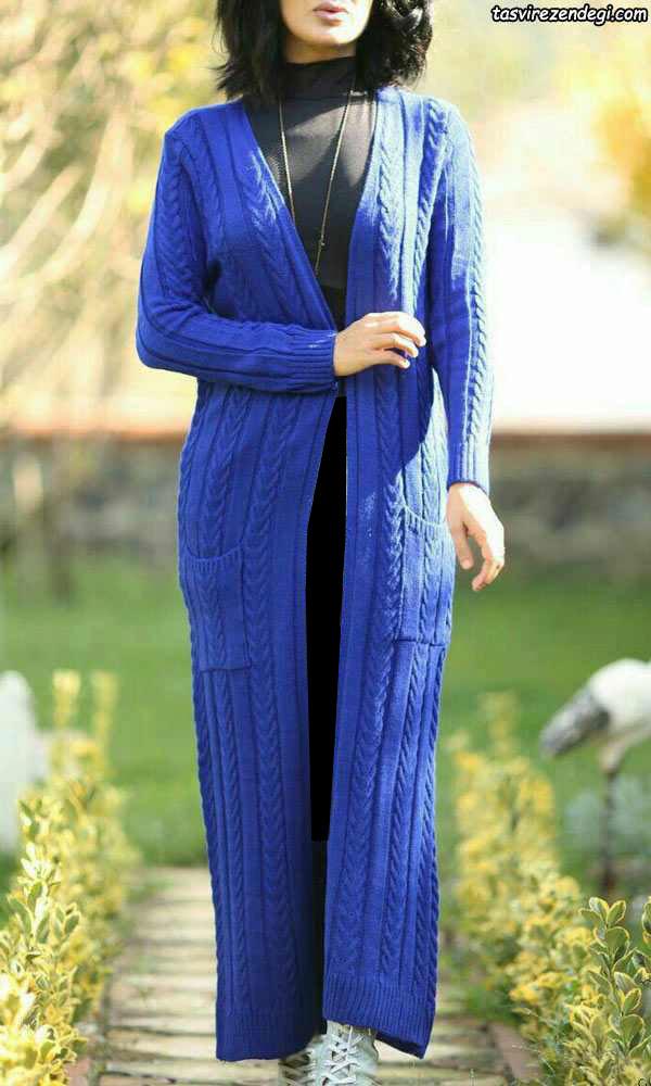 مدل مانتو بافت شیک بلند جلوباز