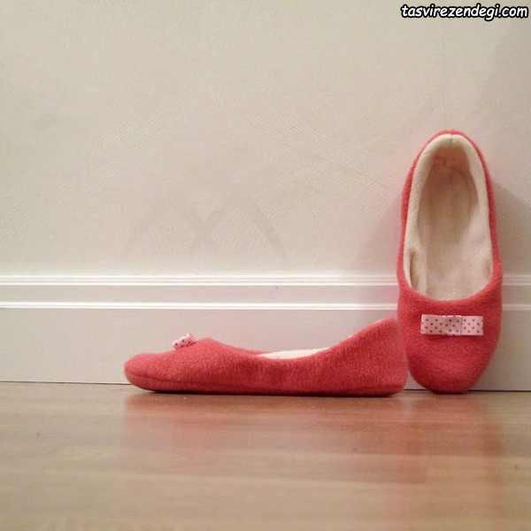 آموزش دوخت کفش روفرشی نمدی