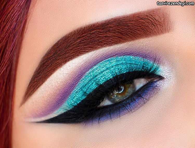 مدل آرایش چشم جذاب مجلسی