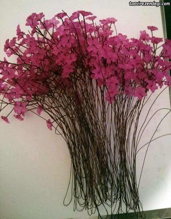 آموزش ساخت درختچه شکوفه کریستالی
