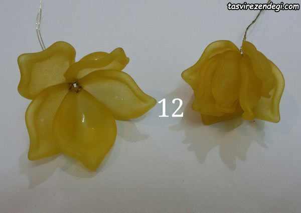 آموزش گل کریستالی , ساخت رز با گلبرگ کلوئه