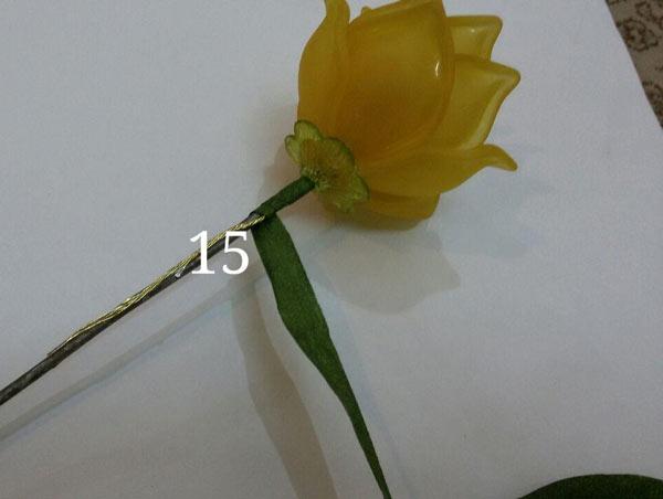 آموزش ساخت گل رز کلوئه کریستالی