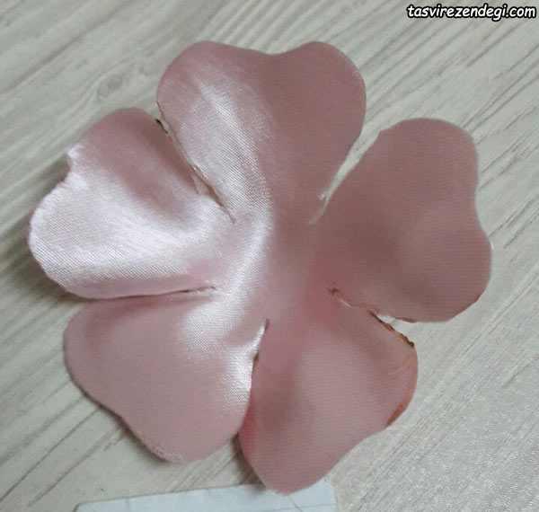 آموزش ساخت گل پارچه ای