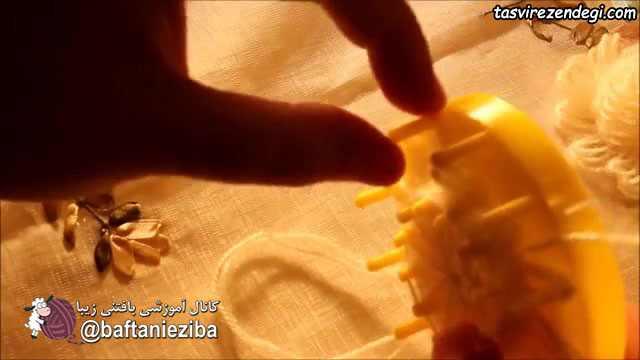 آموزش بافت شال مجلسی با دستگاه موتیف ساز