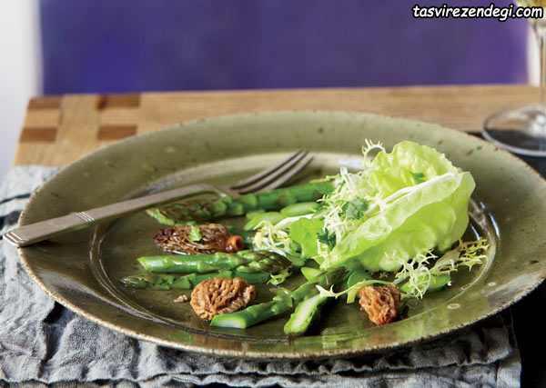 کاهش چربی شکم , کاهو و مارچوبه