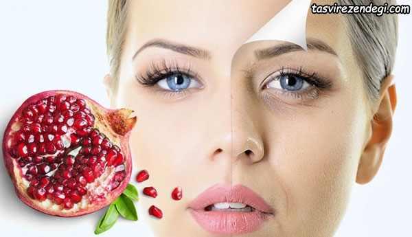 فواید انار برای پوست و مو