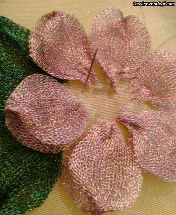 آموزش ساخت گل با روبان تیتانیوم