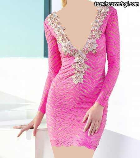 مدل لباس مجلسی کوتاه شیک