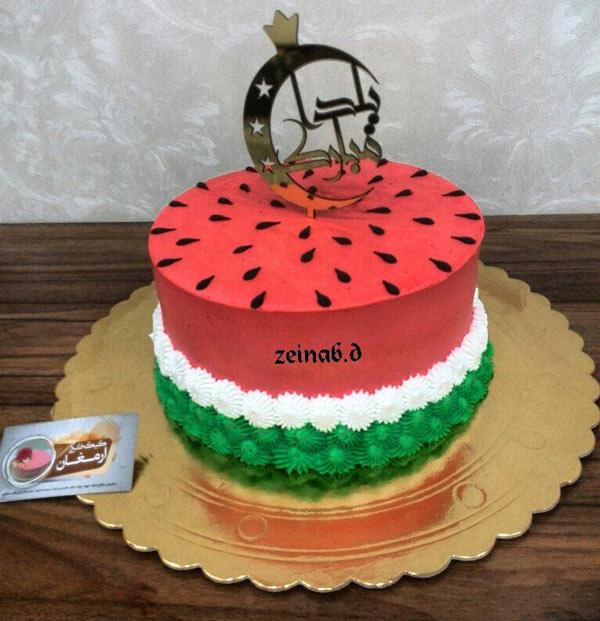 کیک شب یلدا , تزیینات شب یلدا