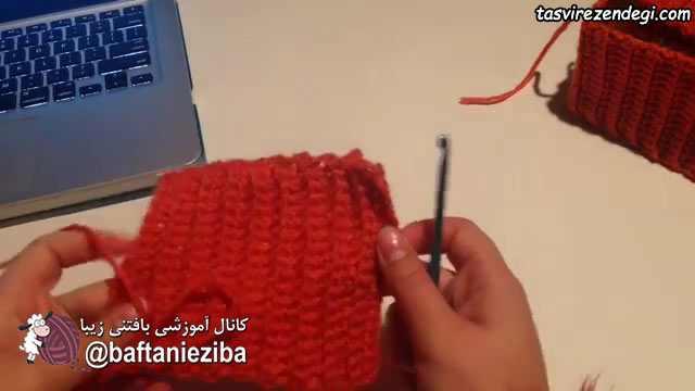 آموزش بافت کاور جعبه دستمال