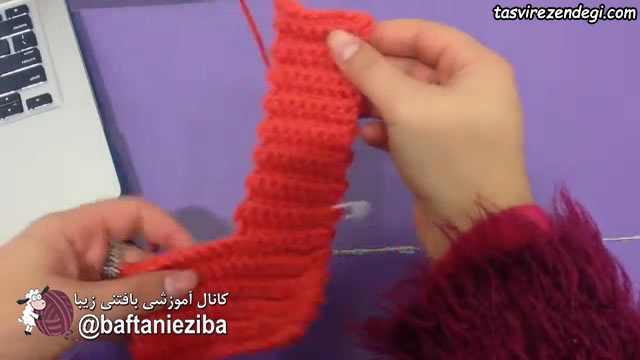 آموزش بافت کاور جعیبه دستمال مبلی