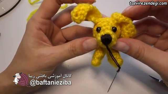 بافت عروسک سگ کوچک , آموزش قلاب بافی