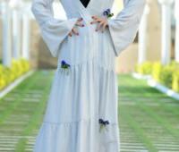 مدل مانتو سفید بلند