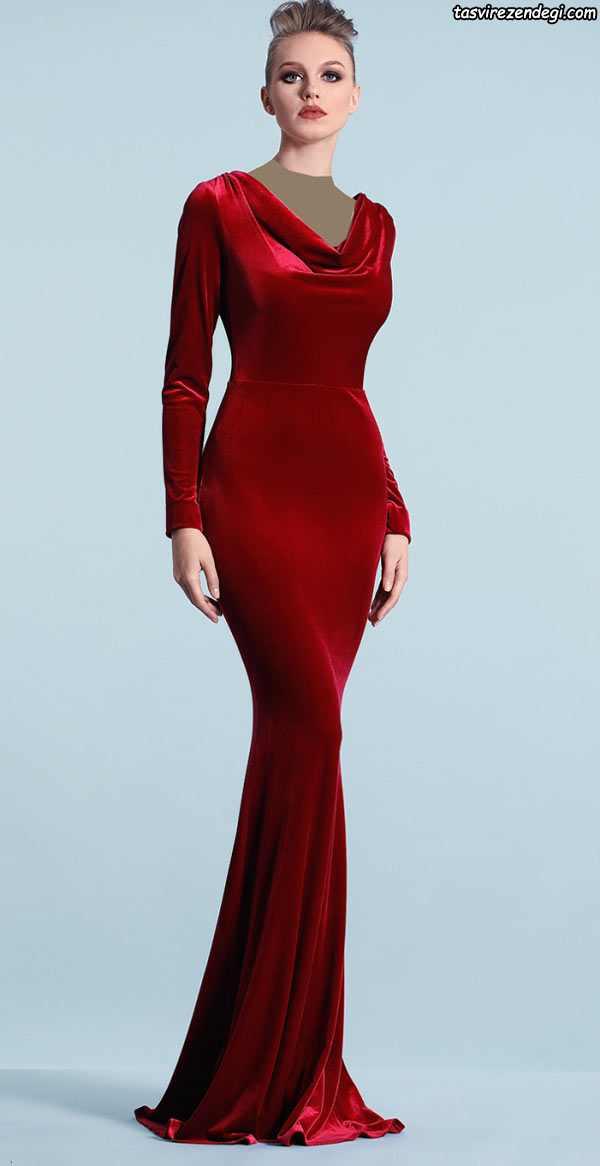 مدل لباس مخمل مجلسی شیک