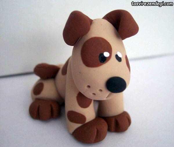 مجسمه سگ خمیری مینیاتوری