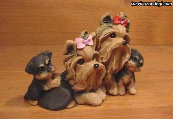 عروسک سگ خمیری