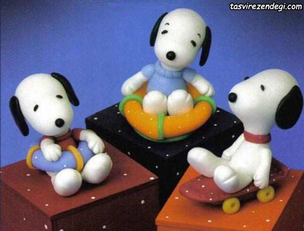 عروسک سگ خمیری مینیاتوری