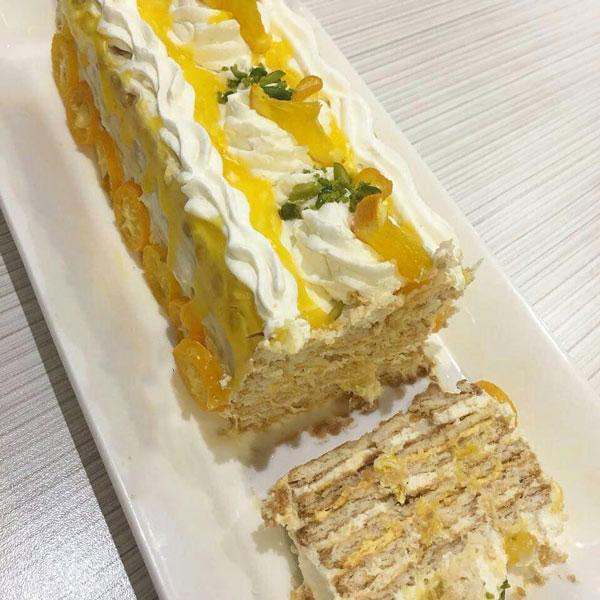 کیک یخچالی پرتقالی