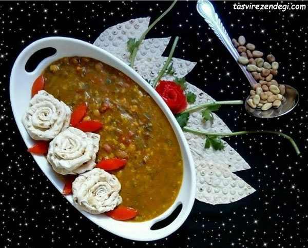 طرز تهیه آش اماج یا آش بی بی غذای محلی نیشابور