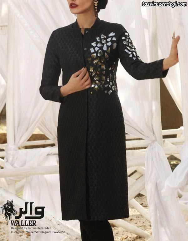 مدل مانتو عید مشکی بلند