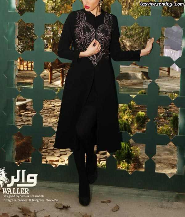 مدل مانتو عید مشکی , مانتو مجلسی مشکی