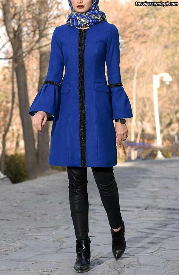 مدل مانتو مجلسی عید دخترانه آبی