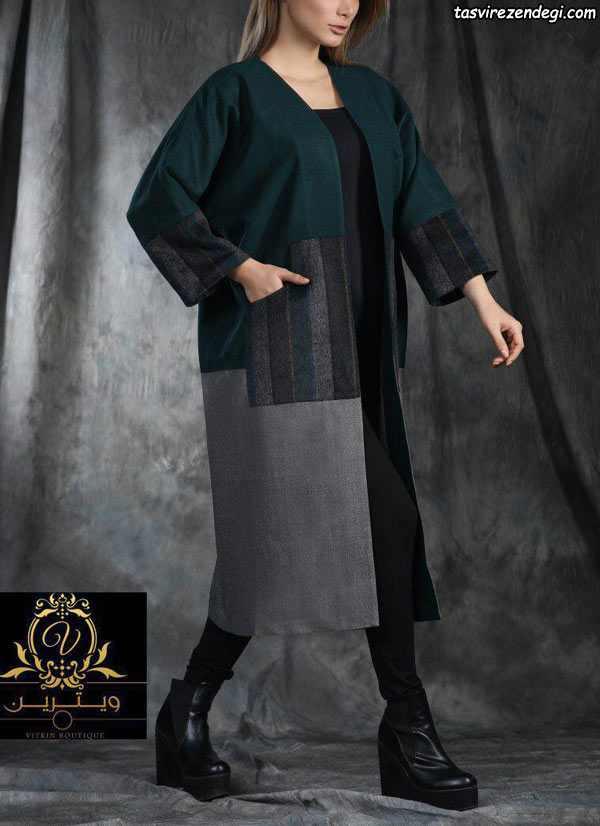 مدل مانتو پشمی , مانتو زمستانی شیک